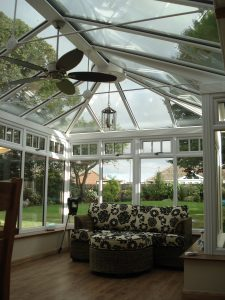 Interior of a uPVC White Conservatory From First Home Improvements