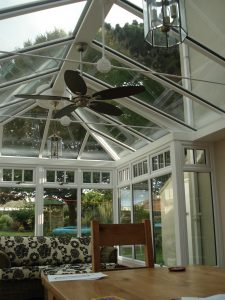 Cream uPVC Conservatory Interior From First Home Improvements