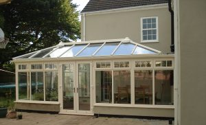 Cream uPVC Hipped Back Edwardian Conservatory