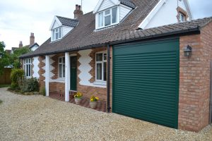 Green Roller Garage Door