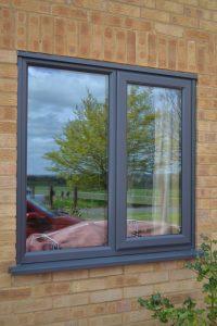 Grey uPVC Double Glazing Window