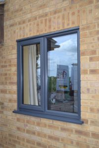 Striking Coloured Grey Windows in uPVC From First Home