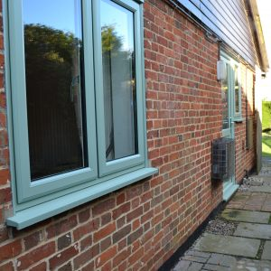 Chartwell green uPVC windows and door