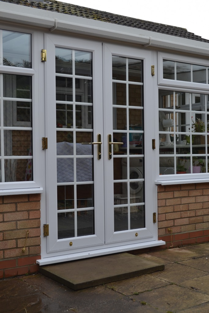 Upvc doors double glazed doors upvc front back doors for Double glazed french doors