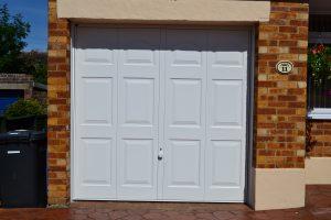 White Steel Garage Door