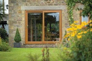 Golden Oak Patio Door