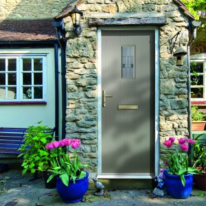 First Meridian Elm composite door in French grey