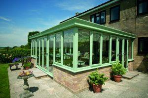 Green uPVC Double Glazed Conservatory