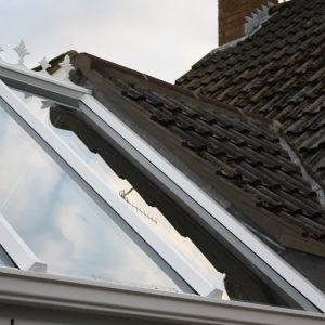 Gable link on conservatory