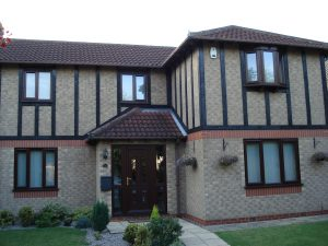 Coordinating Rosewood Windows in uPVC From First Home