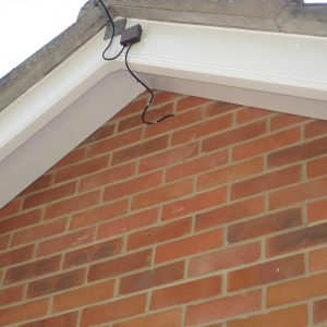 White Fascia and Soffit Gable End