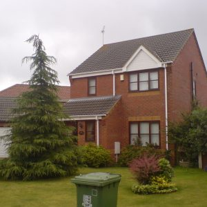 White Fascia, Soffits and Guttering