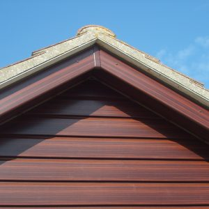 Rosewood Gable End With Cladding, Soffits & Fascias