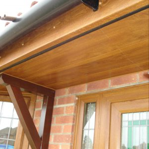 Golden Oak Fascia, Soffits and Black Guttering