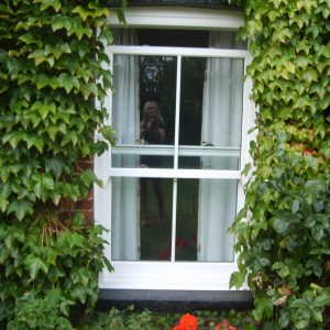 Double glazed uPVC sash window