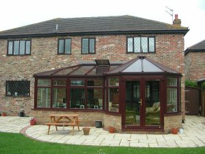 Rosewood Victorian P Shaped Conservatory