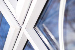 White uPVC profile close up