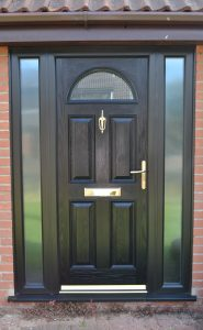 Meridian Ash Composite Door in Black