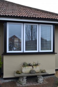 Beautiful White uPVC on Black uPVC Frame from First Home