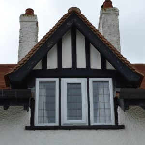 White uPVC Windows with squared lead