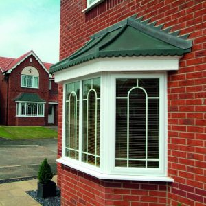 White uPVC 3 x Part Bay Window With Special Georgian Inserts
