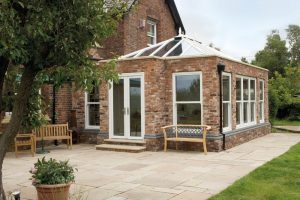Orangery with uPVC French Doors and Windows