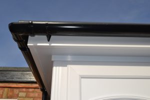 White Fascia, Soffits and Black Guttering