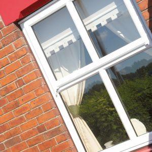 White uPVC sash windows