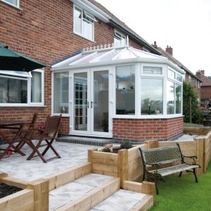 White uPVC Victorian conservatories