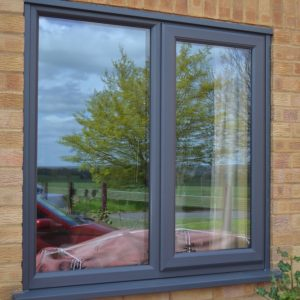 Coloured grey replacement windows in uPVC