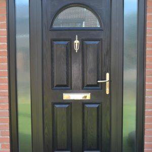 Meridian Ash composite door in black