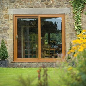 Golden Oak Double Glazed Patio Door